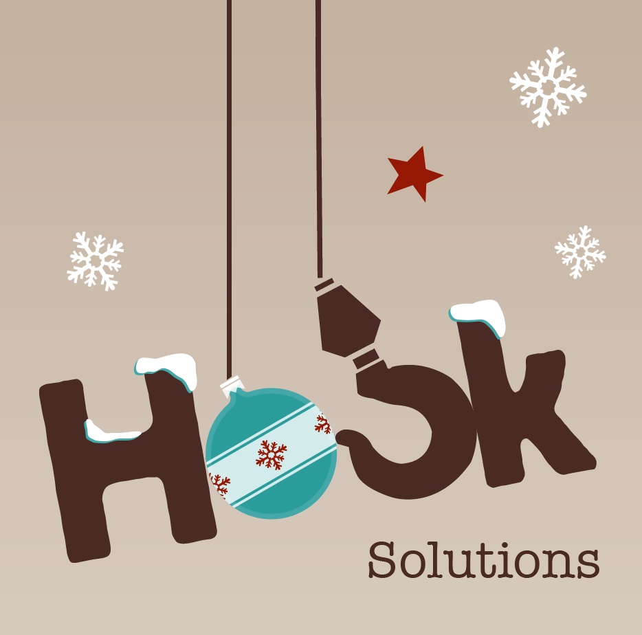 Bespoke Christmas logo Hook Solutions Ltd