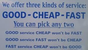 Hook Blog, good, fast, cheap